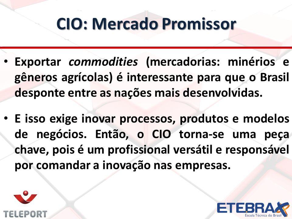 Exportar commodities (mercadorias: minérios e gêneros agrícolas) é interessante para que o Brasil desponte entre as nações mais desenvolvidas. E isso