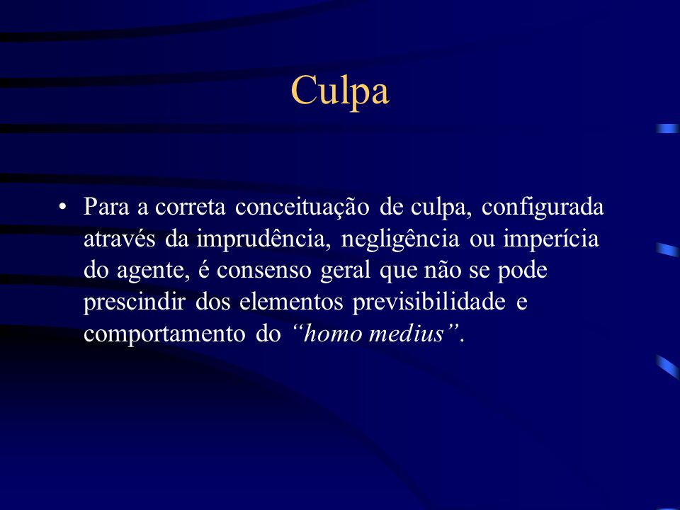 Código Civil - Art. 159 A negligência é a falta de atenção, a ausência de reflexão necessária; o agente deixa de prever o resultado que deveria ser pr