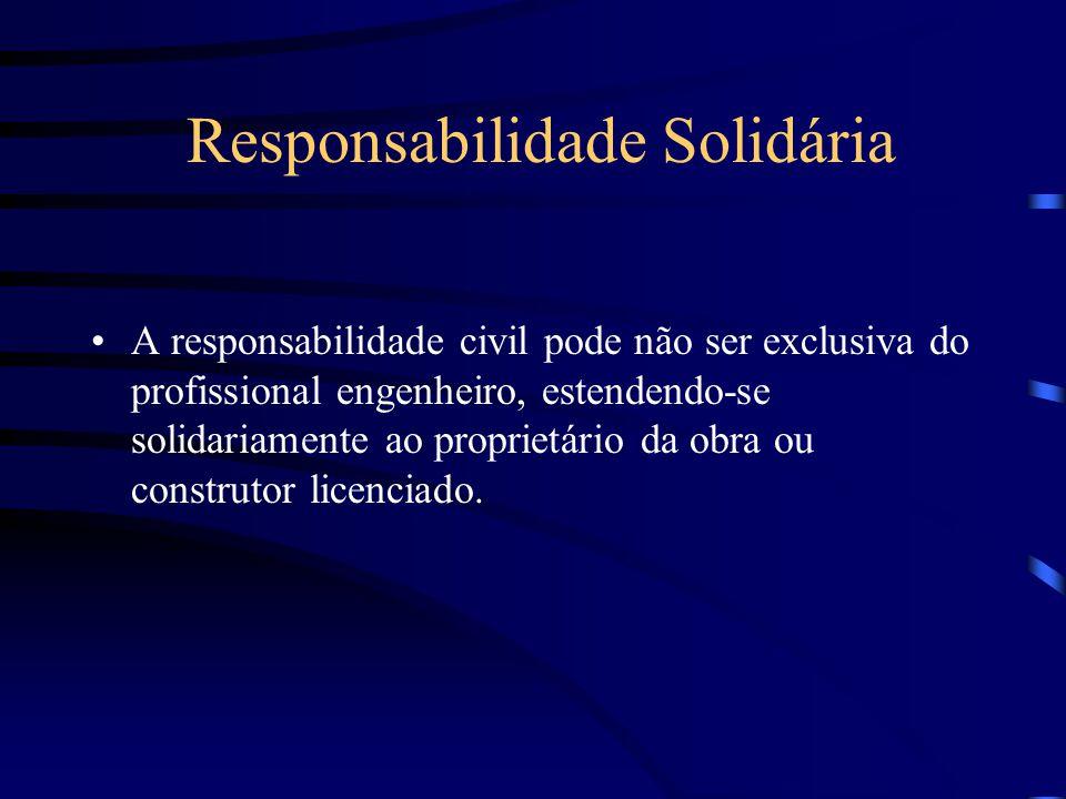 Responsabilidade Civil - Ação Culposa Emprego de material impróprio. Sondagens e fundações defeituosas. Aceitação de terreno inadequado, sem notificar
