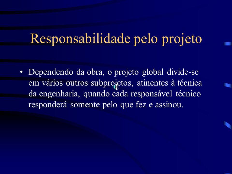 Abrangência da Responsabilidade Civil Responsabilidade por danos causados a vizinhos e a terceiros. Responsabilidade pelo projeto.