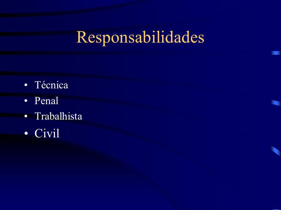 Responsabilidades Técnica Penal Trabalhista Civil