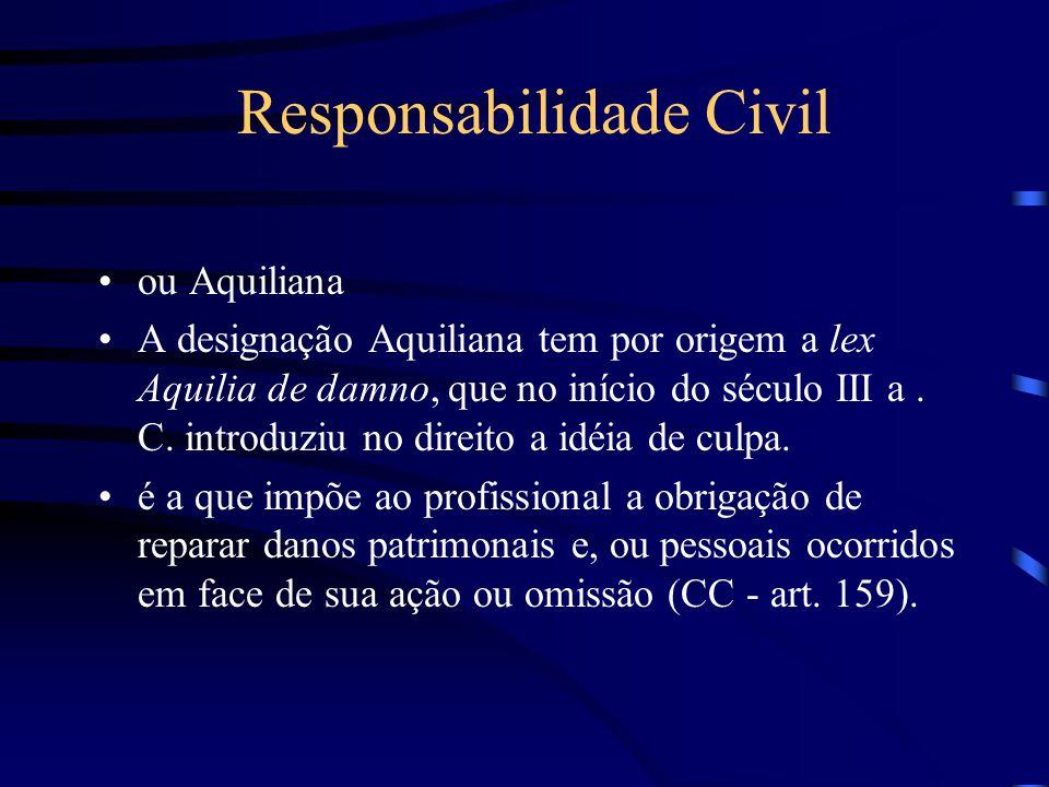 ou Aquiliana A designação Aquiliana tem por origem a lex Aquilia de damno, que no início do século III a.