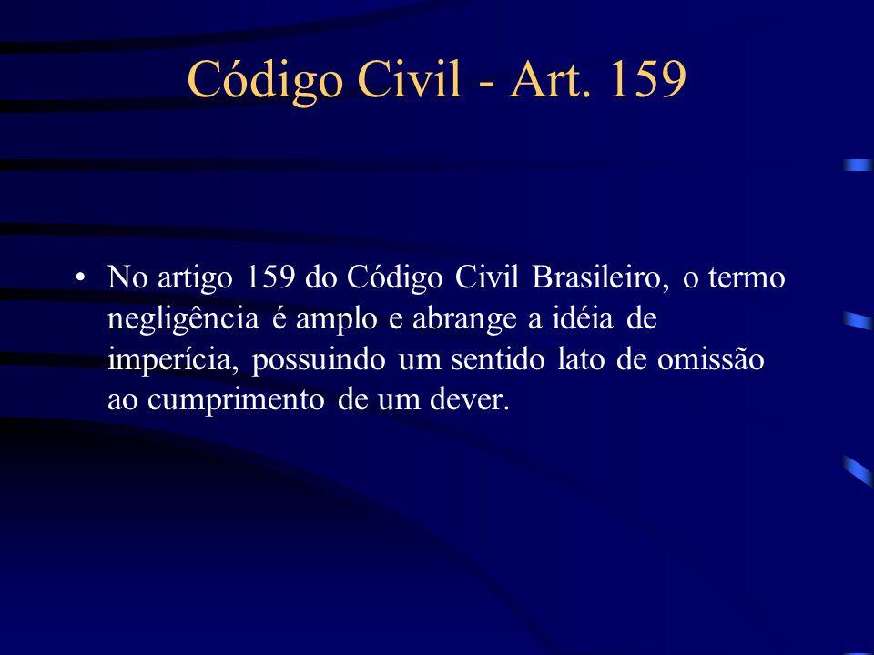 Modalidades de Responsabilidade Civil Subjetiva ou culposa –também chamada por responsabilidade civil por atos ilícitos, ou aquiliana.