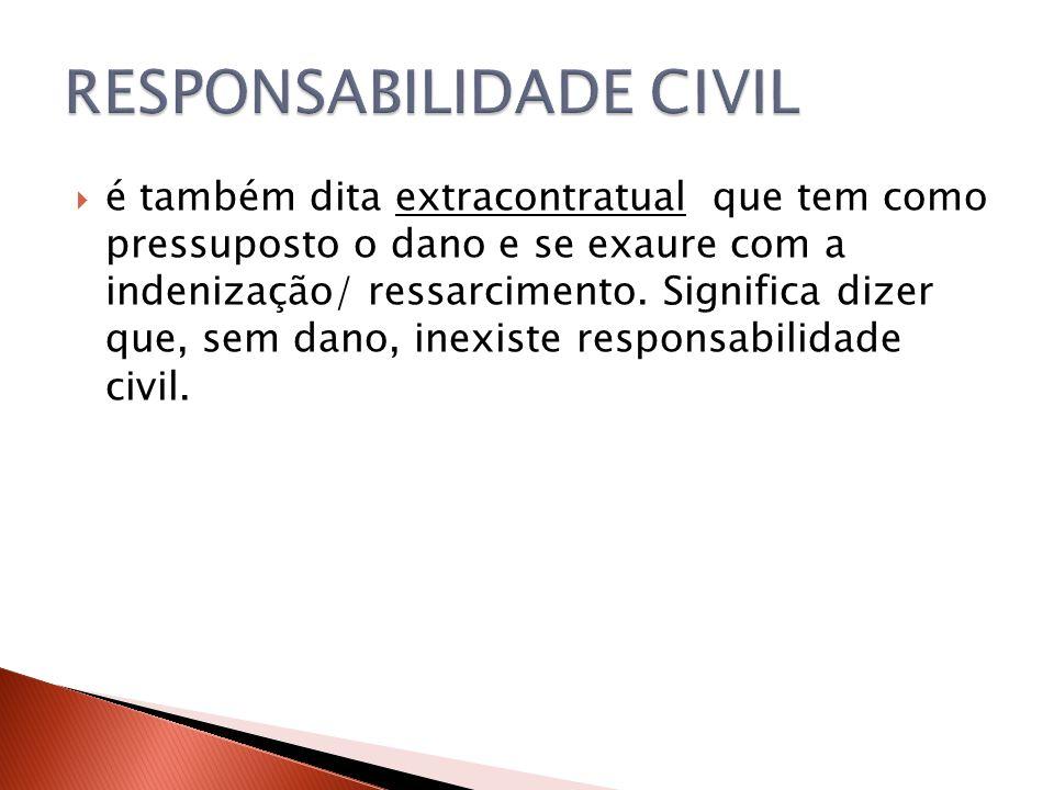  - culpa da vítima: no caso da culpa ser exclusiva da vítima, não há que se falar em responsabilidade civil do Estado.