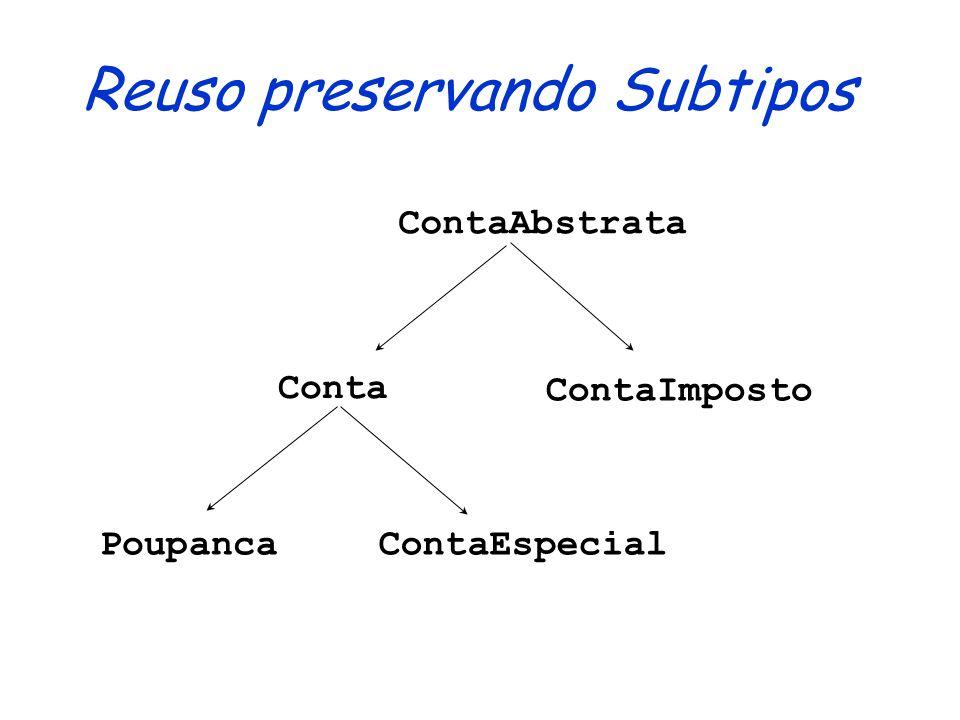 Reuso sem Subtipos Conta PoupançaContaImpostoM ContaEspecial