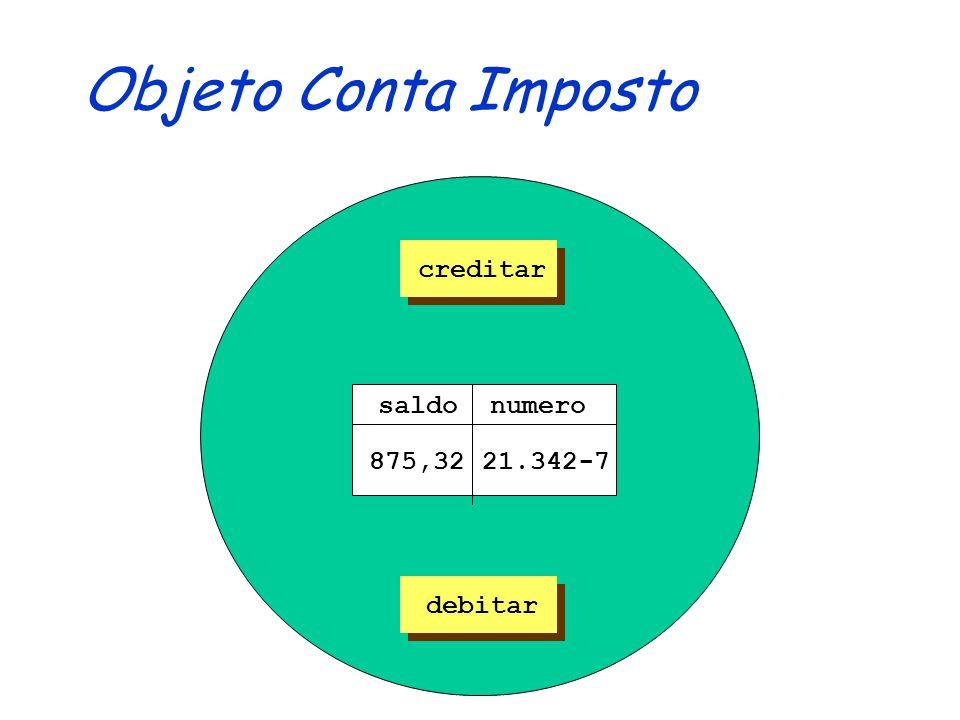 Contas: Projeto OO public abstract class ContaProjeto { private String numero; private double saldo; public abstract void creditar(double valor); public abstract void debitar(double valor); public String getNumero() { return numero; protected setSaldo(double saldo) { this.saldo = saldo; } /*...