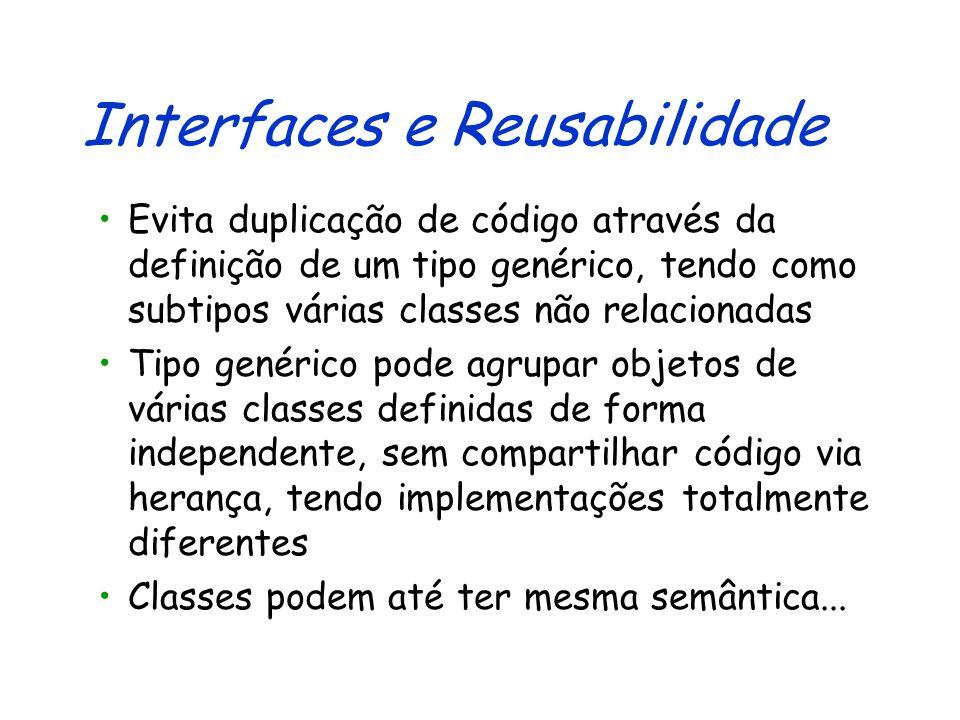 Usando Auditores Banco b = new Banco(); BancoModular bm = new BancoModular(); Auditor a = new Auditor(); /*...