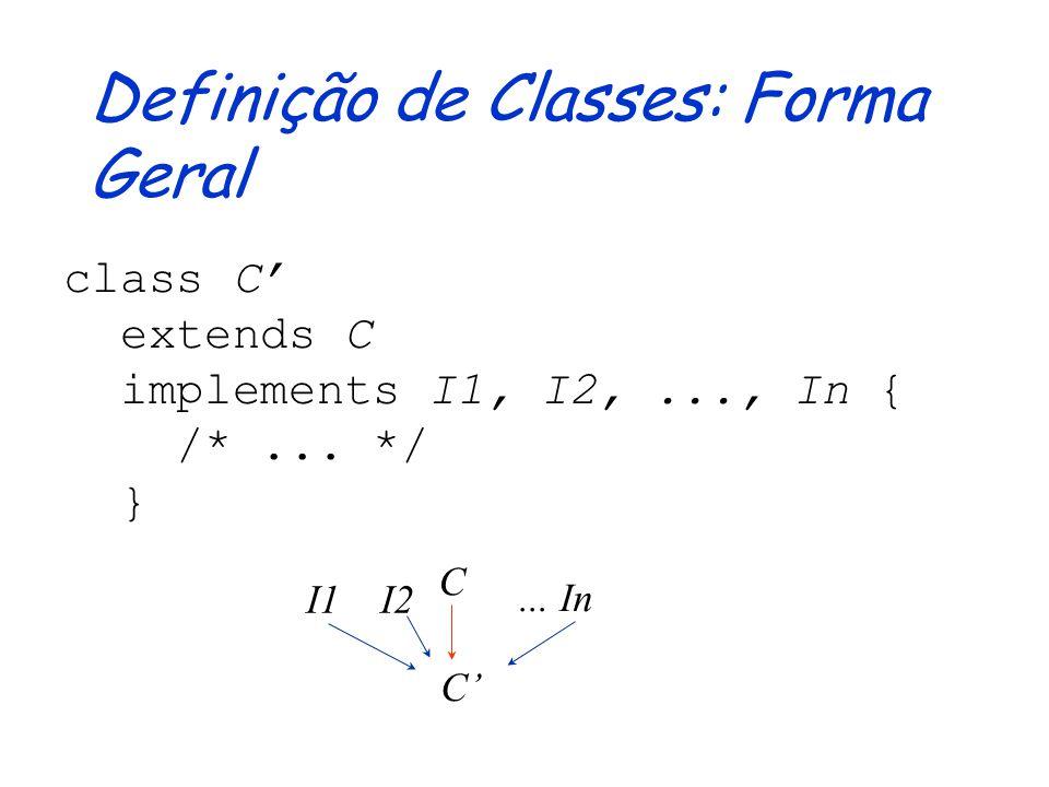Interfaces e Reusabilidade Evita duplicação de código através da definição de um tipo genérico, tendo como subtipos várias classes não relacionadas Ti