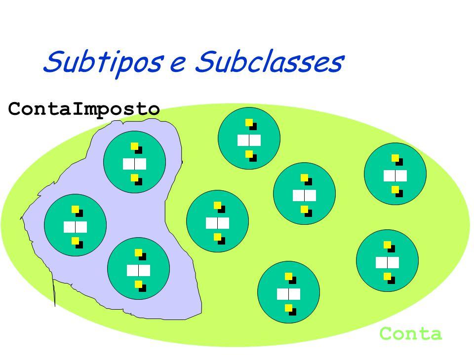 Repositório: Implementações public class ConjuntoContas implements RepositorioContas {...} public class ListaContas implements RepositorioContas {...} public class ArrayContas implements RepositorioContas {...} public class VectorContas implements RepositorioContas {...}