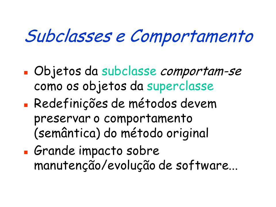 Subtipos e Subclasses ContaImposto Conta