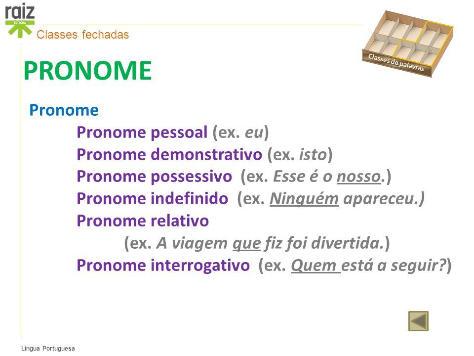 Língua Portuguesa PRONOME Pronome Pronome pessoal (ex.