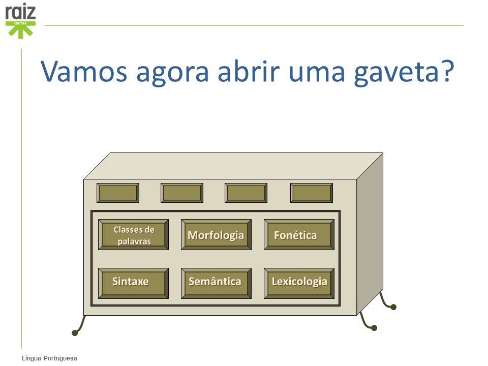 Língua Portuguesa Vamos agora abrir uma gaveta?