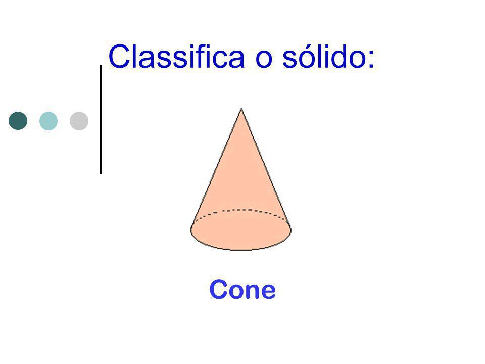 Classifica o sólido: Cone