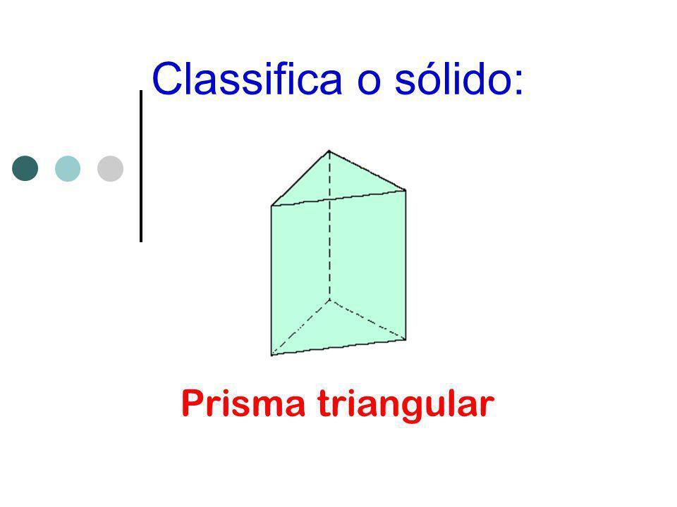 Classifica o sólido: Paralelepípedo retângulo