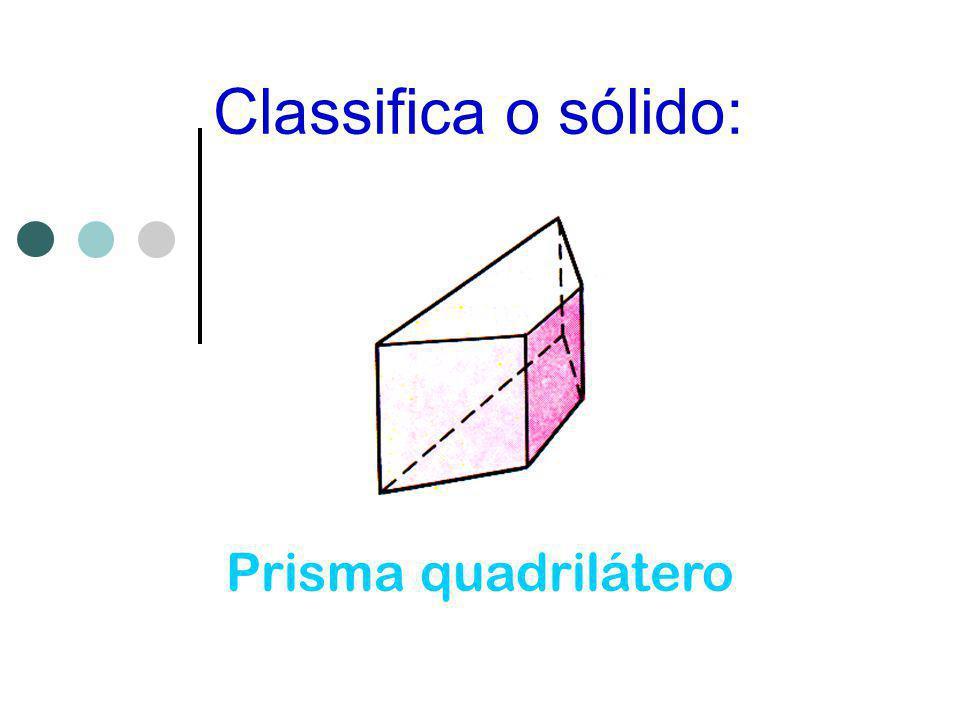 Classifica o sólido: Prisma quadrilátero