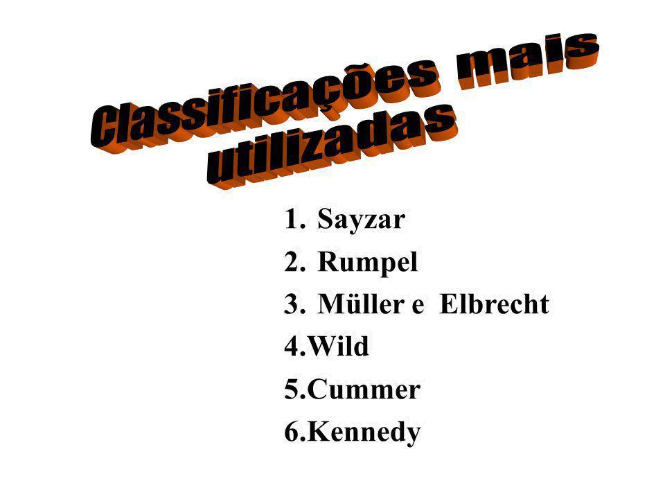 Classificação de Müller e Elbrecht Classificação de Müller e Elbrecht Intercalar Segmento edentado limitado por dentes com ausência de sistema de alavancas Intercalar Segmento edentado limitado por dentes com ausência de sistema de alavancas