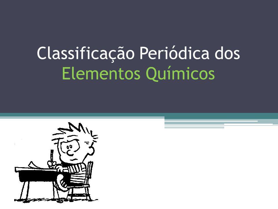 TABELA PERIÓDICA CLASSIFICAÇÃO DOS ELEMENTOS QUÍMICOS a) Representativos : O elétron de diferenciação está no subnível s ou p.