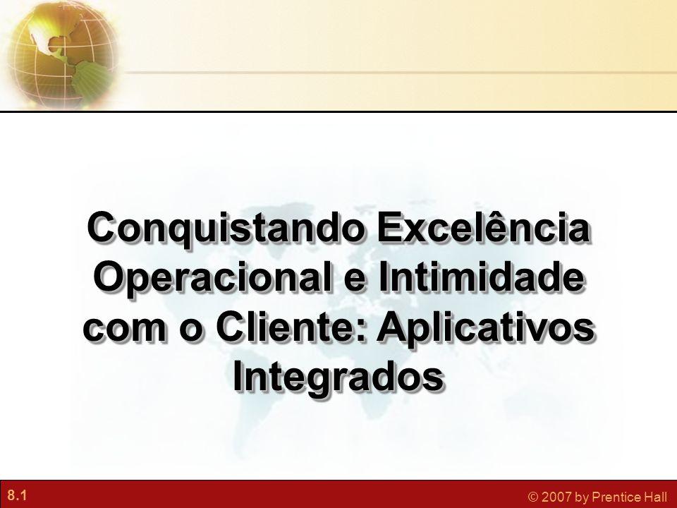 8.1 © 2007 by Prentice Hall Conquistando Excelência Operacional e Intimidade com o Cliente: Aplicativos Integrados