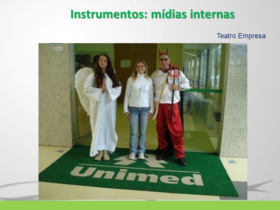 Instrumentos: mídias internas Teatro Empresa