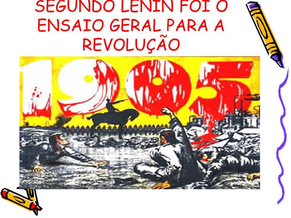 SEGUNDO LENIN FOI O ENSAIO GERAL PARA A REVOLUÇÃO
