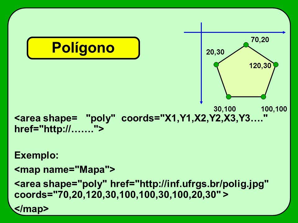 Polígono Exemplo: 70,20 120,30 100,10030,100 20,30