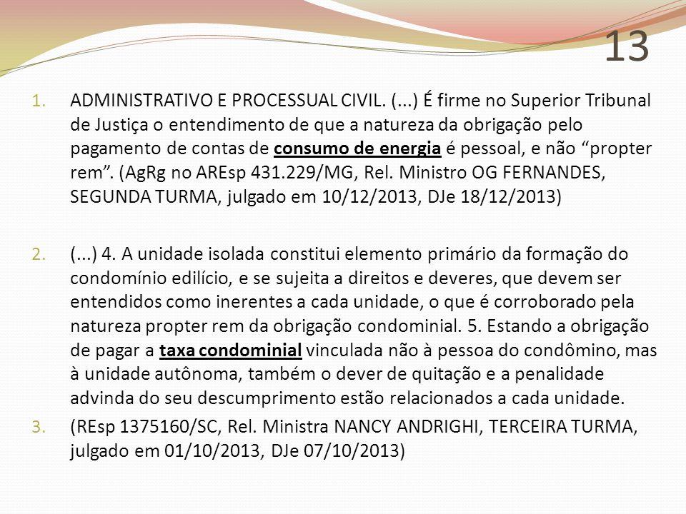 13 1.ADMINISTRATIVO E PROCESSUAL CIVIL.