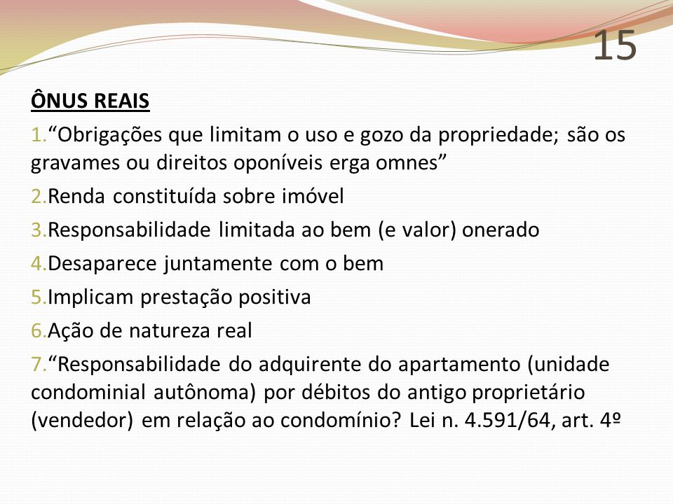 15 ÔNUS REAIS 1.