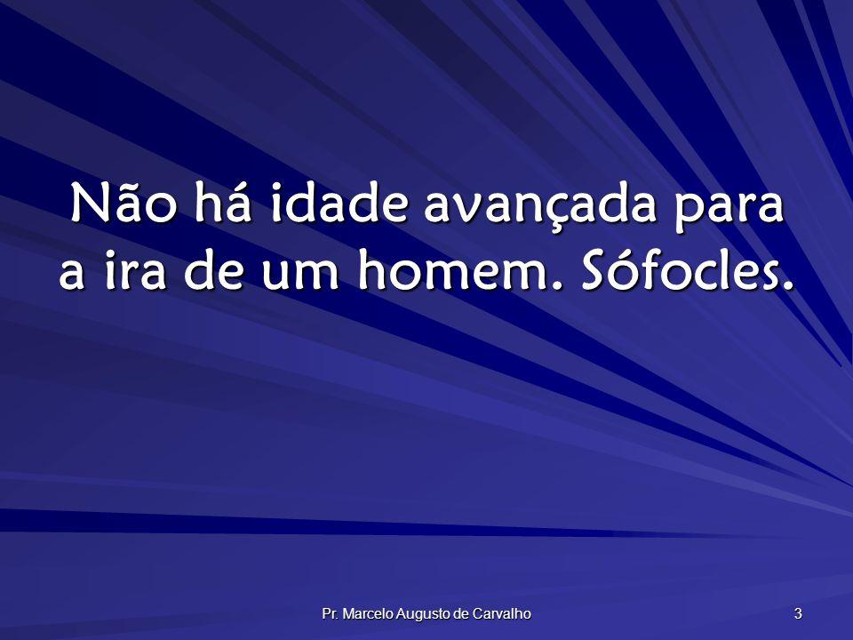 Pr. Marcelo Augusto de Carvalho 3 Não há idade avançada para a ira de um homem. Sófocles.