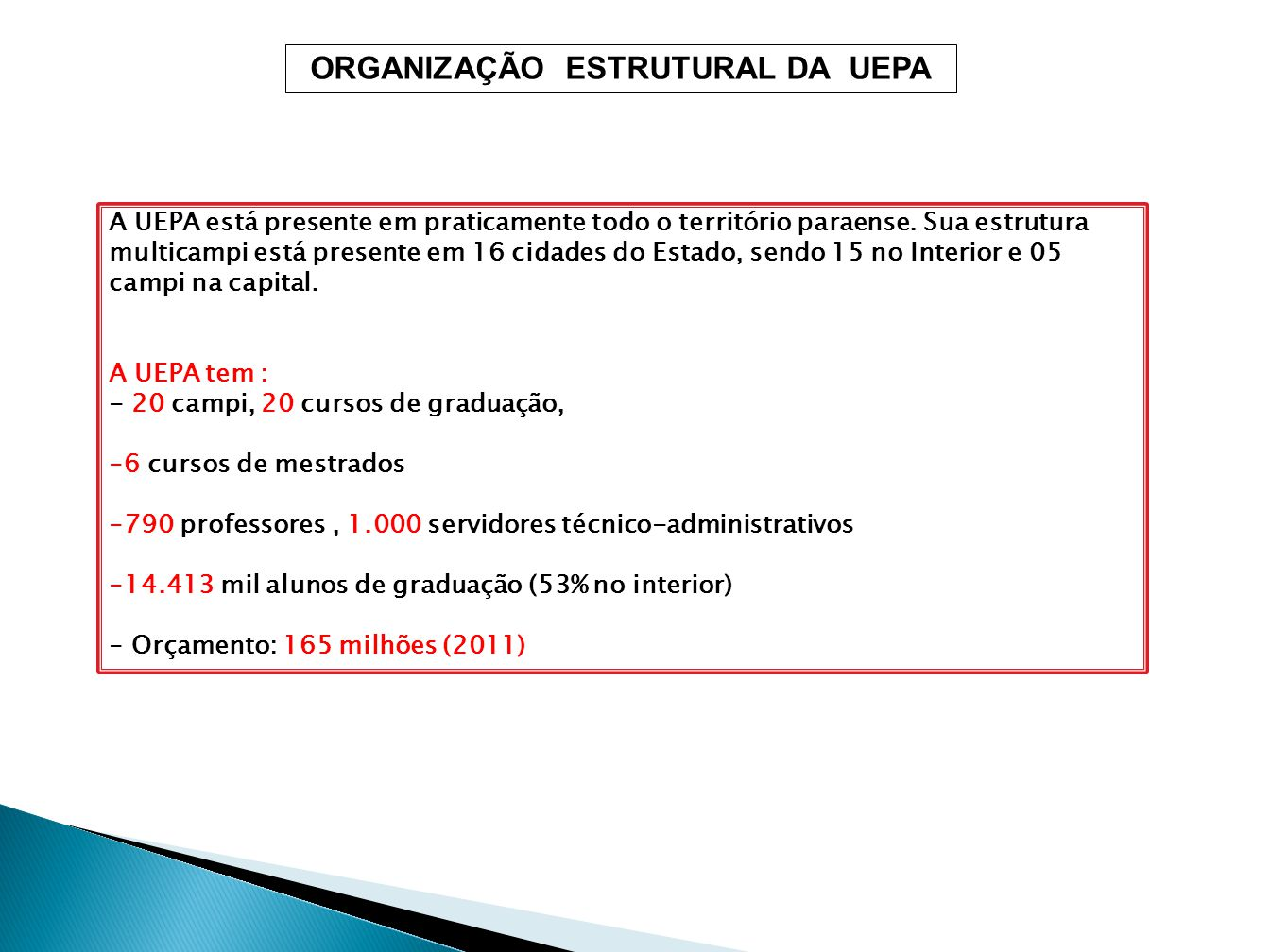 Conselho Universitário Conselho de Ensino, Pesquisa e Extensã0 Conselho de Administração Reitoria Vice-Reitoria Procuradoria Juridica Ouvidoria Controle Interno Assessoria Comunicação Coord.