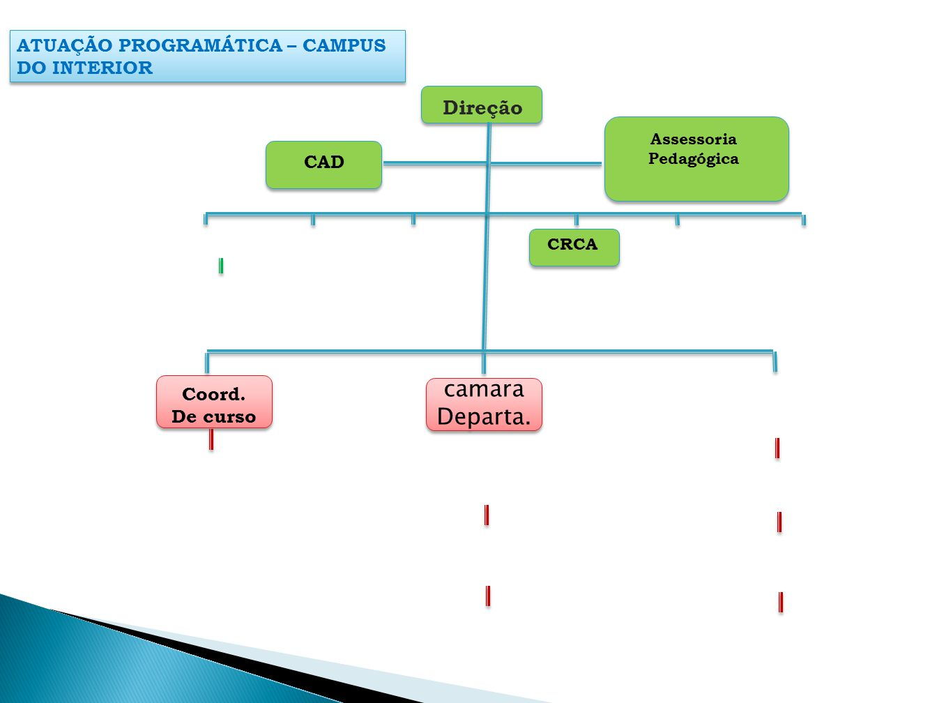 ATUAÇÃO PROGRAMÁTICA – CAMPUS DO INTERIOR CAD Assessoria Pedagógica CRCA Coord. De curso Direção camara Departa.
