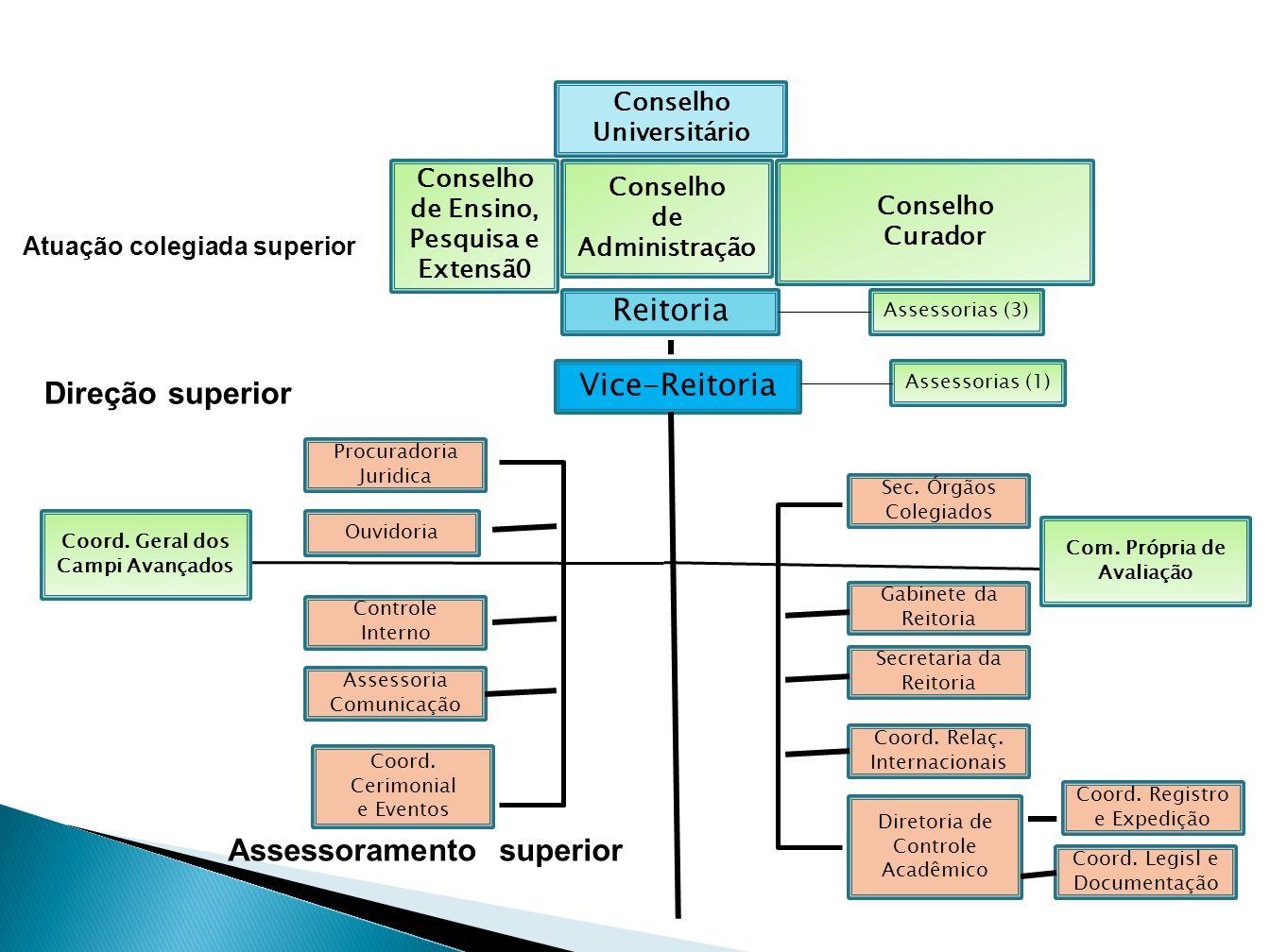 Reitoria Biblioteca Central Estrutura de Órgãos suplementares Nuc.