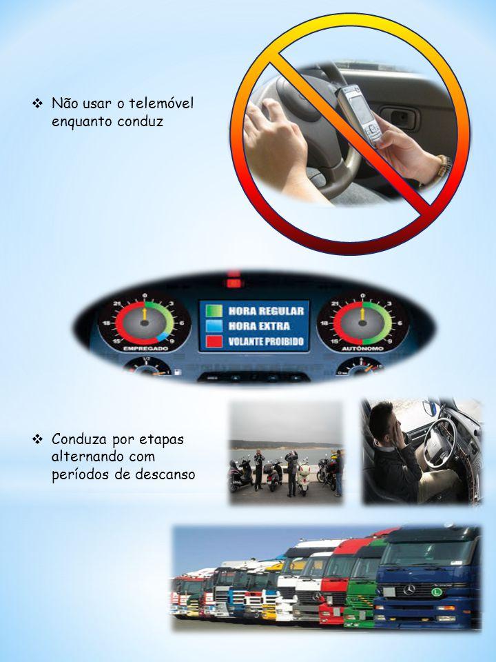  Não usar o telemóvel enquanto conduz  Conduza por etapas alternando com períodos de descanso 3