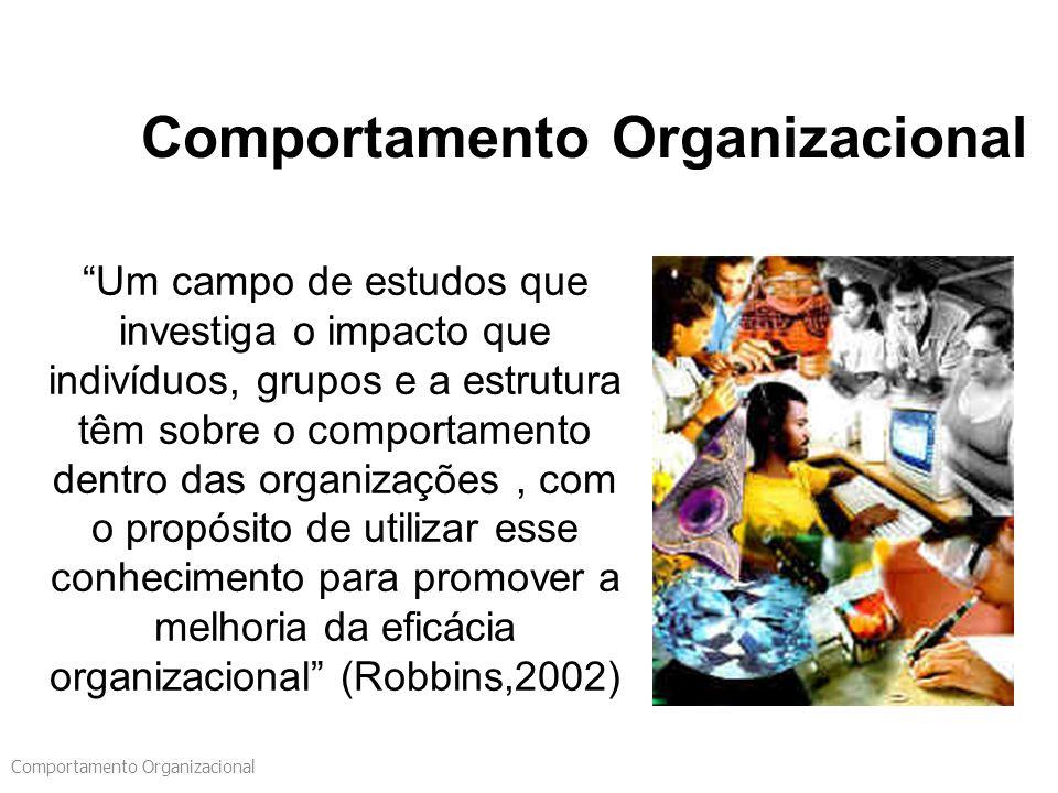 "Comportamento Organizacional ""Um campo de estudos que investiga o impacto que indivíduos, grupos e a estrutura têm sobre o comportamento dentro das or"