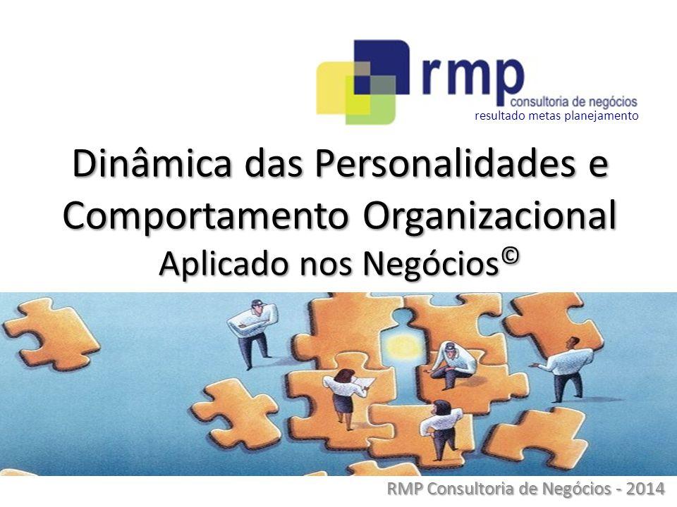 RMP Consultoria de Negócios - 2014 Dinâmica das Personalidades e Comportamento Organizacional Aplicado nos Negócios © resultado metas planejamento