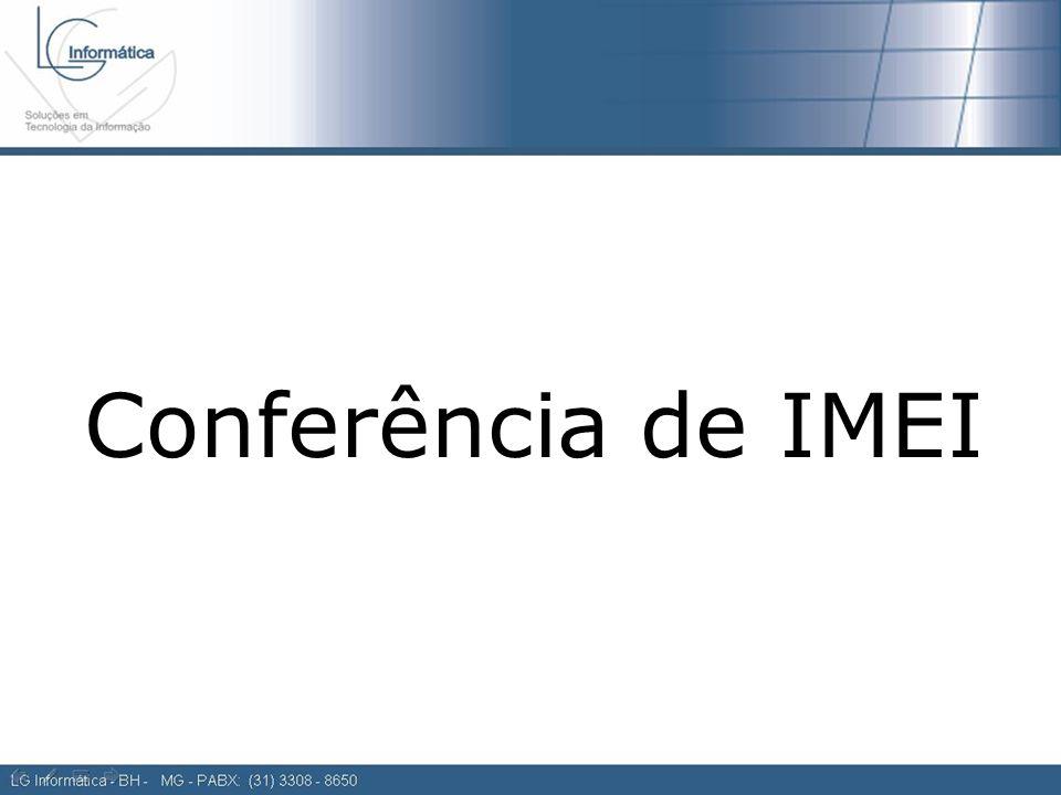 Conferência de IMEI
