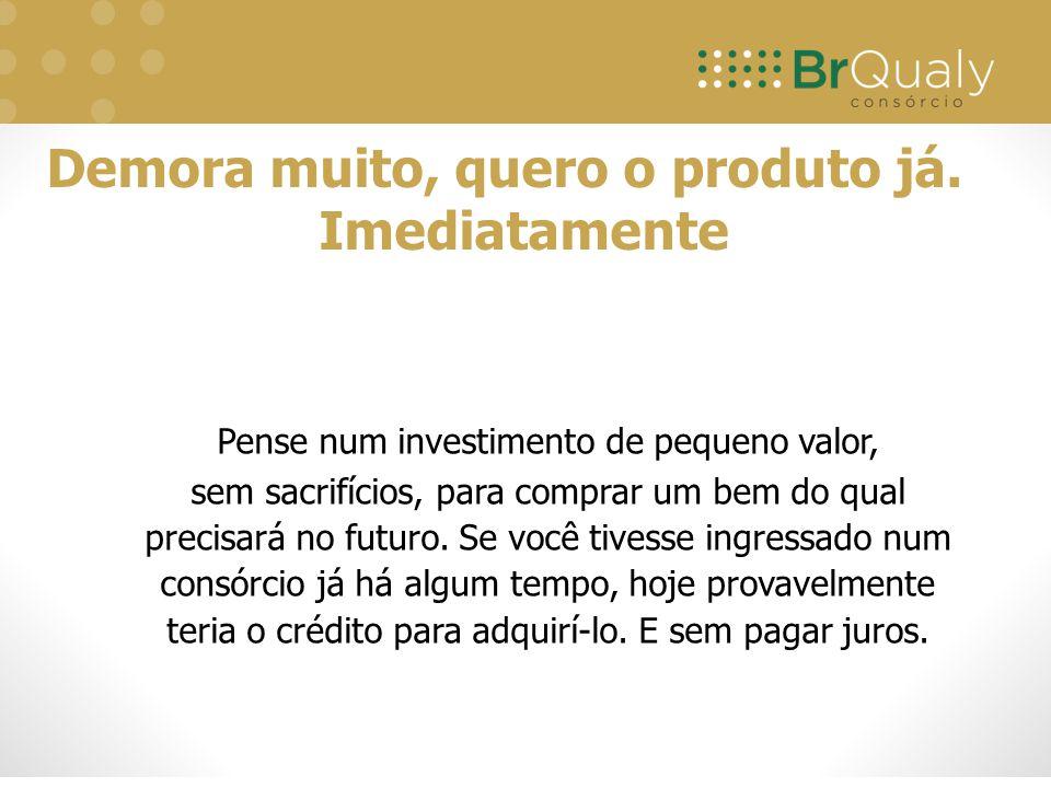 Pense num investimento de pequeno valor, sem sacrifícios, para comprar um bem do qual precisará no futuro. Se você tivesse ingressado num consórcio já