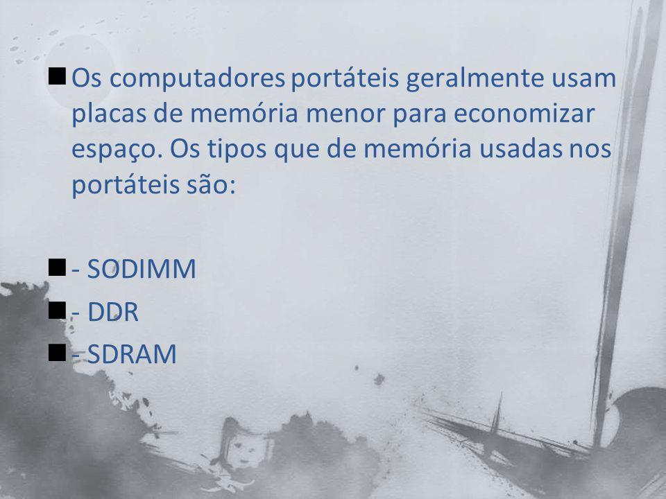Memória RAM do computador portátil