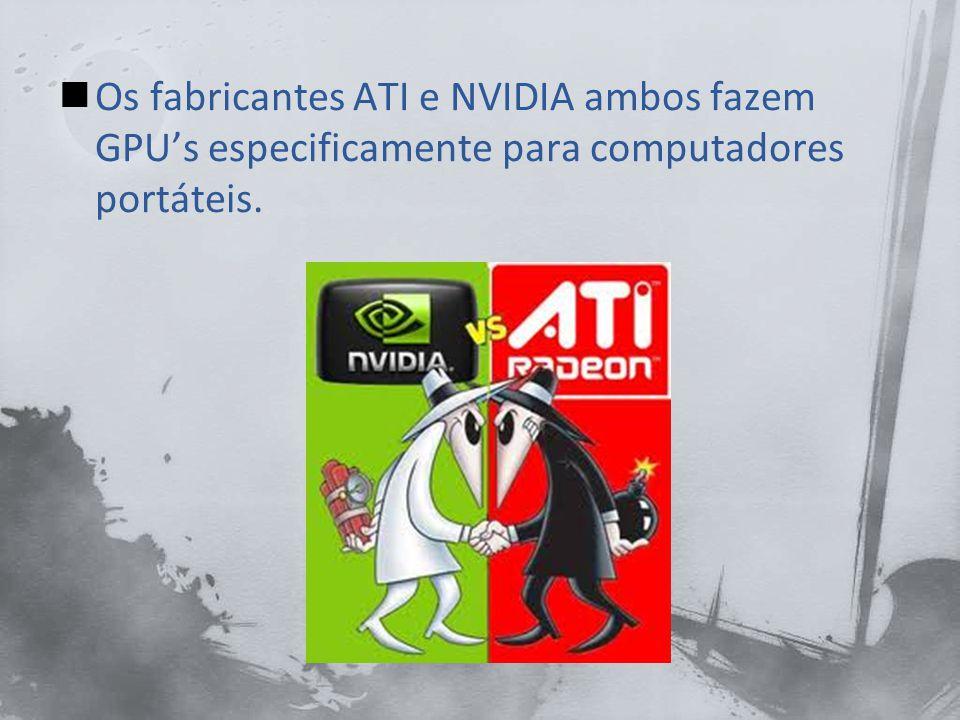 Os portáteis frequentemente compartilham memória entre o CPU e o GPU, poupando e reduzindo o consumo de energia.