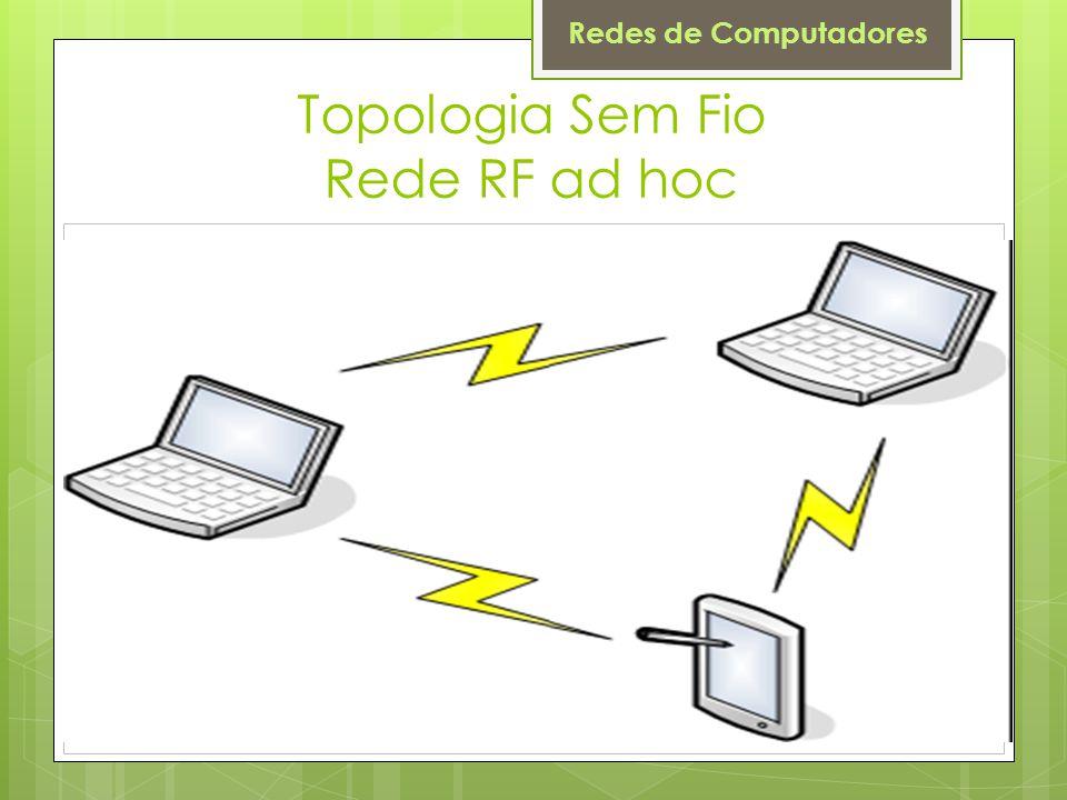 Redes de Computadores Topologia Sem Fio Rede RF ad hoc
