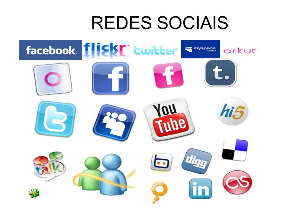 Facebook Orkut, YouTube Twitter REDES SOCIAIS