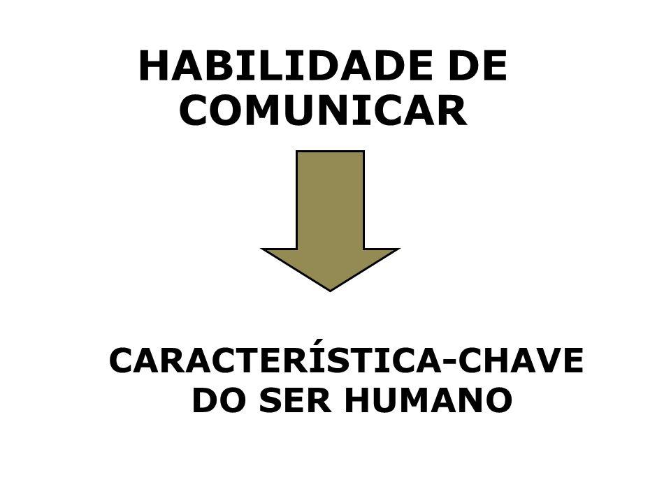 HABILIDADE DE COMUNICAR CARACTERÍSTICA-CHAVE DO SER HUMANO
