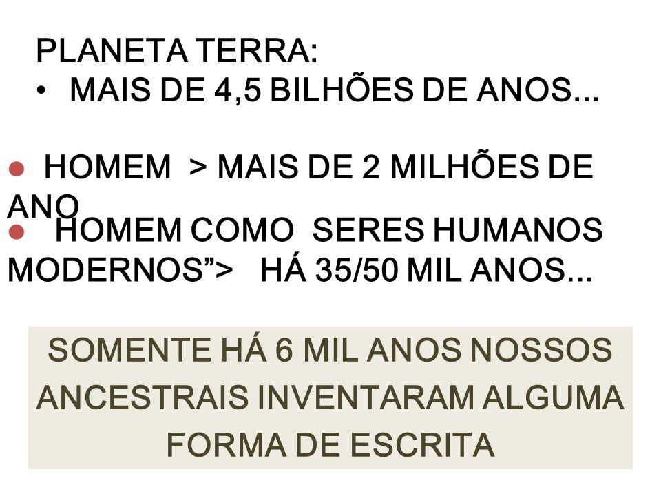 PLANETA TERRA: MAIS DE 4,5 BILHÕES DE ANOS...