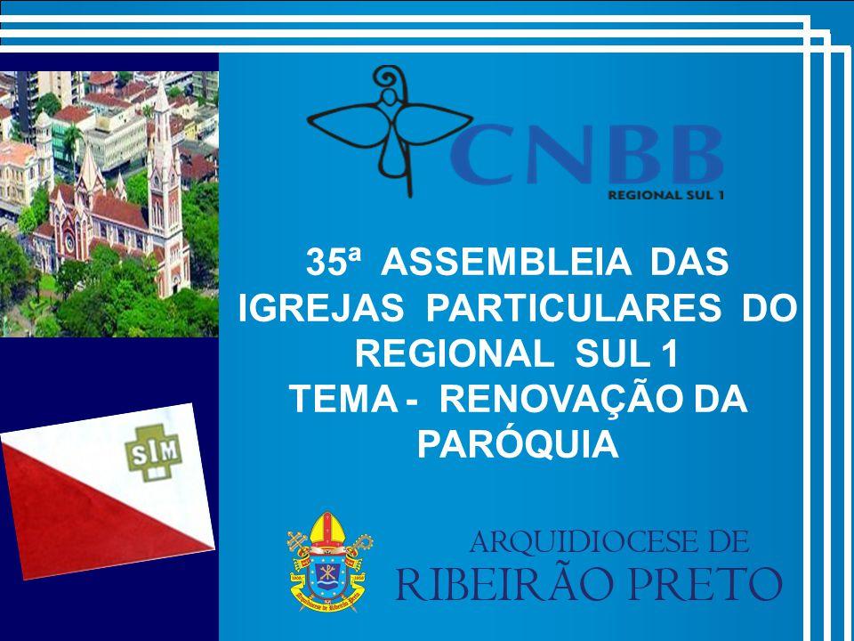 35ª ASSEMBLEIA DAS IGREJAS PARTICULARES DO REGIONAL SUL 1 TEMA - RENOVAÇÃO DA PARÓQUIA