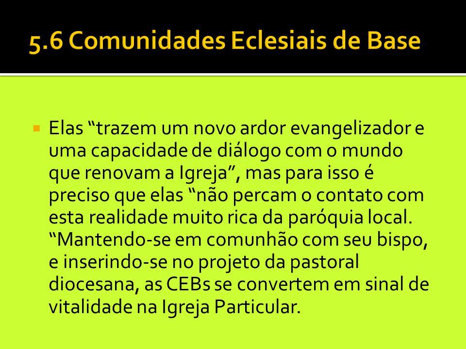 """ Elas """"trazem um novo ardor evangelizador e uma capacidade de diálogo com o mundo que renovam a Igreja"""", mas para isso é preciso que elas """"não percam"""