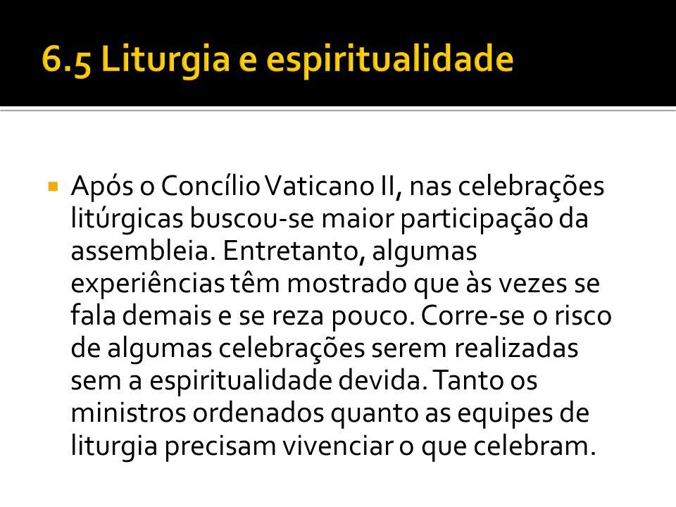  Após o Concílio Vaticano II, nas celebrações litúrgicas buscou-se maior participação da assembleia. Entretanto, algumas experiências têm mostrado qu