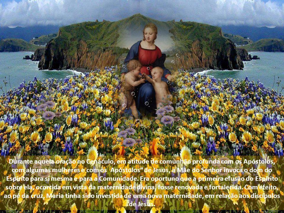 Diversamente daqueles que estavam presentes no Cenáculo em intrépida espera, Ela, plenamente consciente da importância da promessa de seu Filho aos discípulos (cf.