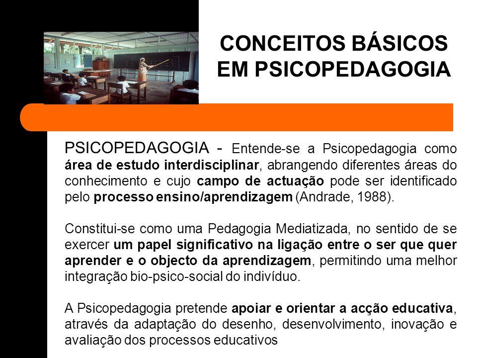 PSICOPEDAGOGIA – A Psicopedagogia é a área de estudo que tem como objectivo a aprendizagem humana e as suas dificuldades.