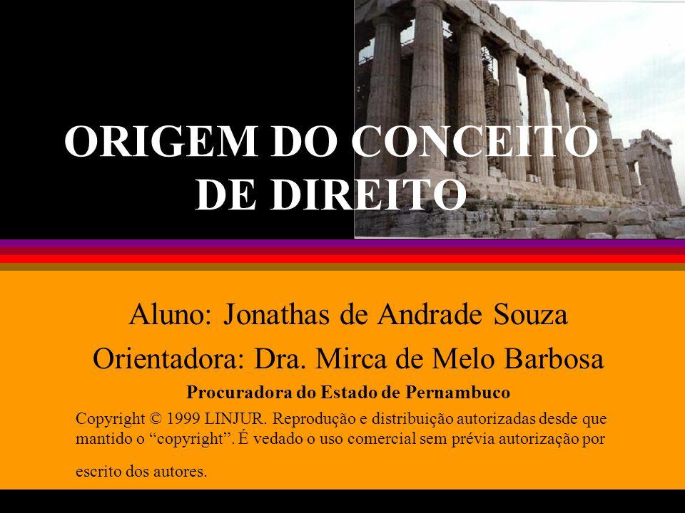 Origem do conceito de Direito32 BIBLIOGRAFIA l MONTORO, André Franco.