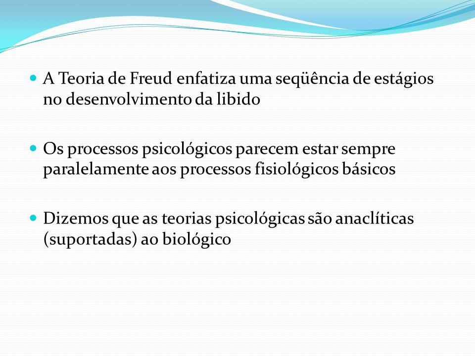 A Teoria de Freud enfatiza uma seqüência de estágios no desenvolvimento da libido Os processos psicológicos parecem estar sempre paralelamente aos pro