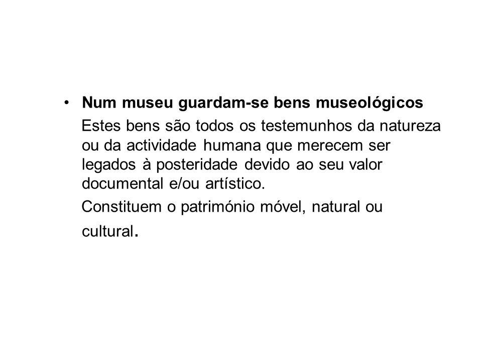 Um museu organiza-se de acordo com regras em função de conceitos que lhe são próprios.